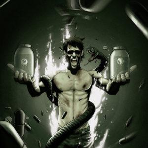 horror illustration dark temné ilustrace eyeballs green snake burning zelená oči had hořící